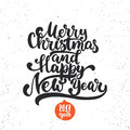 Merry Christmas And Happy New Year - Lettering Holiday Calligraphy Phrase. Fun Brush Ink Typography Illustration For Stock Photos - 80179553