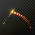 Magic Wand With Magical Sparkle Glitter Light Trail Trace Royalty Free Stock Images - 80195389