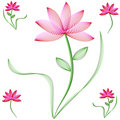 Flowers With Pink And Red Petals Royalty Free Stock Images - 8020959