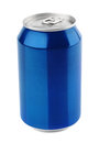 Blue Aluminum Can On White Royalty Free Stock Photos - 80222518