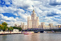 Stalinist Skyscraper On Moskva River, Moscow, Russia Stock Image - 80229781