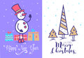 Christmas Greeting Card Background Poster. Vector Illustration. Stock Image - 80231761