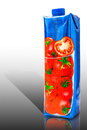 Tomato Juice Cardboard Container Stock Images - 80240234