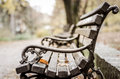 Park Bench In The Autumn. Stock Photo - 80248560