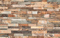 Brown Stone Wall Tiles Texture. Stock Photo - 80248990