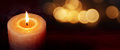 Burning Candle For Silence Moments On A Dark Background Royalty Free Stock Image - 80260676