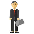 Businessman Manager With Suitcase In Office. Royalty Free Stock Photography - 80267867