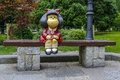 Mafalda Sculpture In San Francisco Park In Oviedo Royalty Free Stock Images - 80278919