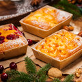 Christmas Holiday Cakes Royalty Free Stock Photo - 80283415