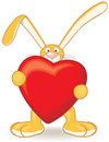 Bunny With Heart Royalty Free Stock Image - 8031746