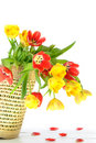 Overflowing Basket Of Flowers Royalty Free Stock Images - 8037019