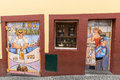 Funchal, Madeira, Portugal -The Art Of Open Door In The Street Of Santa Maria. Stock Photography - 80312262