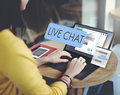 Live Chat Chatting Communication Digital Web Concept Royalty Free Stock Images - 80315059