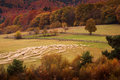 Autumn Landscape Hills In Romania County, Traditional Village Stock Images - 80330374