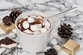 Chocolate Pudding With Marshmallows And Candy Souffle Stock Photos - 80330883