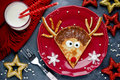 Reindeer Pancakes For Christmas Breakfast Stock Photo - 80337820