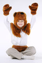 Little Boy With Bear Costume Stock Photography - 80350552
