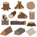 Wood Materials Logs Vector Royalty Free Stock Images - 80356459