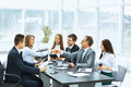Business Meeting At The Table And Handshake Of Business Partners Royalty Free Stock Photography - 80356467
