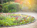 Flower Bed Decoration In The Glover Garden Royalty Free Stock Photography - 80364137