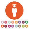 The Student Boy Icon. School And Academy, College, Education Symbol. Flat Stock Photo - 80366510