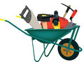 Transport Wheelbarrows Accessories And Construction Tools Royalty Free Stock Images - 80370049