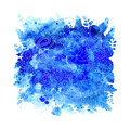 Watercolor Blue Flowers Stock Images - 80381174