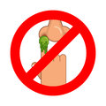 Forbidden To Pick Nose. Ban Booger. Red Prohibition Sign. Strike Stock Images - 80384334