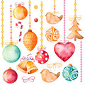 Watercolor Collection Of 19 High Quality Hand Painted Watercolor Elements Royalty Free Stock Images - 80393049