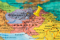 Map Of  Pakistan With A Yellow Pushpin Stuck Royalty Free Stock Images - 80394359