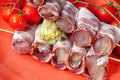 Raw Rolled Meat Stock Images - 8048434