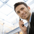Businessman Calling On Phone Royalty Free Stock Images - 8049759