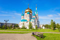 The Dormition Cathedral, Omsk Stock Image - 80404231