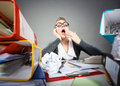 Bored Office Employee At Work. Stock Image - 80417871