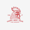 Red Rooster Year Royalty Free Stock Photo - 80427725