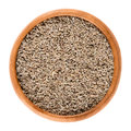 Anise Seeds In Wooden Bowl Over White Royalty Free Stock Photography - 80428197