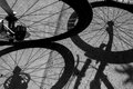 Shadow Of Bicycle Royalty Free Stock Image - 80436866