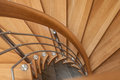 Modern Wooden Spiral Stairs Royalty Free Stock Photos - 80442698