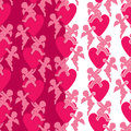 Seamless Pattern With Silhouettes Of Angel And Heart. Valentine` Stock Images - 80449064