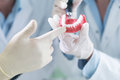 Closeup Of Dentistry Student Practicing On A Medical Mannequin Stock Photos - 80450943