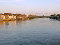 Sunset View Of The Houses Along The River Maas In Maastricht , Netherlands, Europe Stock Photo - 80465870