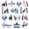 Beauty Salon People Set Royalty Free Stock Images - 80469769
