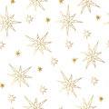 New Year And Christmas Luxury Gold Seamless Pattern With Stars. Greeting Card, Invitation, Flyer. Stock Photos - 80484293