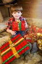 Boy Is Holding A Gift Box. Royalty Free Stock Photos - 80486918