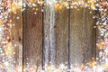 Christmas Background With Lights, Bokeh, Stars And Snow. Old Boa Stock Photography - 80499042