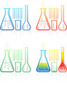 Vector Chemical Test Tubes Icons Royalty Free Stock Images - 8057109