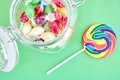 Candy Swirl Lollypop Stock Images - 80505884