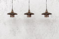 Industrial Loft Pendant Lamps Royalty Free Stock Photography - 80526187