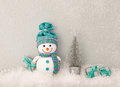 Christmas Background Decoration. Happy Snowman Royalty Free Stock Photos - 80539608