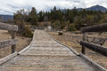 Boardwalk At Mammoth Hot Springs Royalty Free Stock Images - 80563209